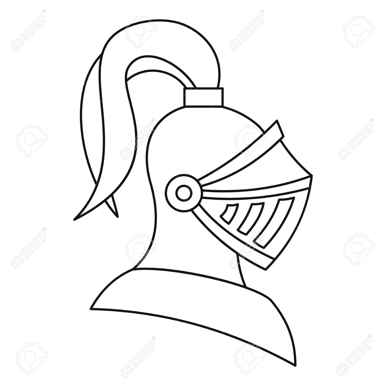 Knight Helmet Clipart Black And White.