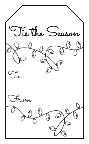 Gift Tag Label Templates.