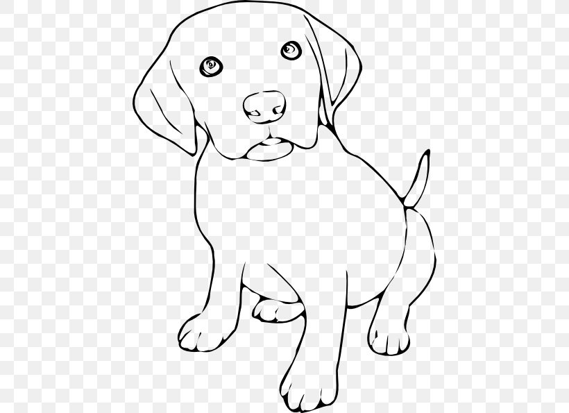 Labrador Retriever Puppy Cat Kitten Clip Art, PNG, 438x595px.