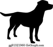 Labrador Retriever Clip Art.
