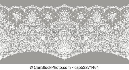 floral lace border.