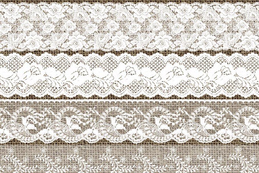 White Lace Borders Clipart.