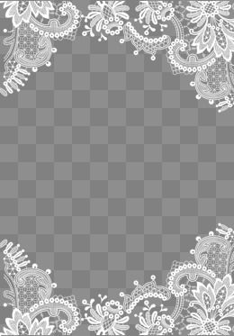 Lace Pattern Border, Lace Border, Pattern Border, Lace Shading PNG.