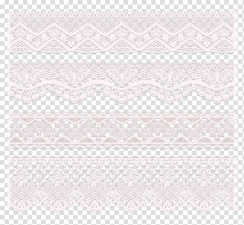 Placemat Pattern, 4 white lace trim pattern , four white.