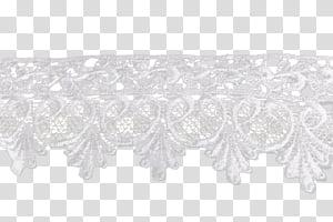 Lace, white lace transparent background PNG clipart.