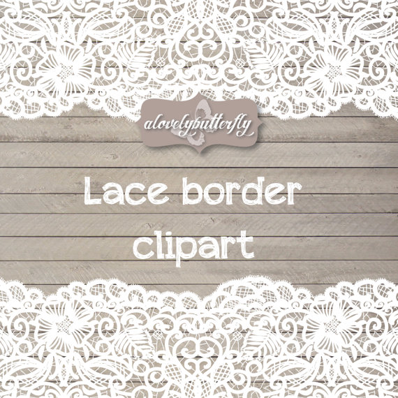 Wedding clipart lace border, rustic clipart, shabby chic wedding.