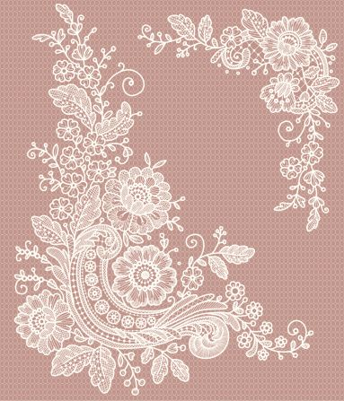 Seamless lace patterns.