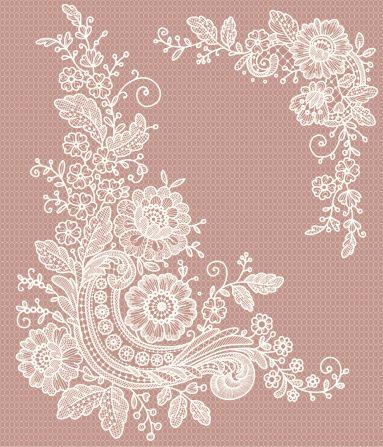 Seamless lace patterns.
