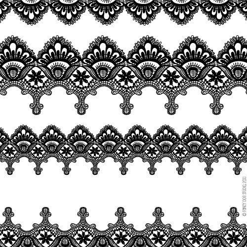 Clip Art Digital Lace Borders Clipart Vector Lace Instant Download.