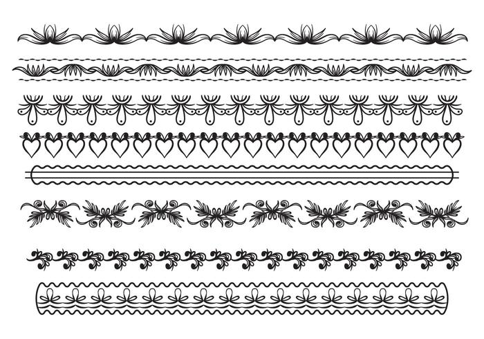 Free Lace Trim Vector.