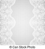 White Lace Border Clipart.