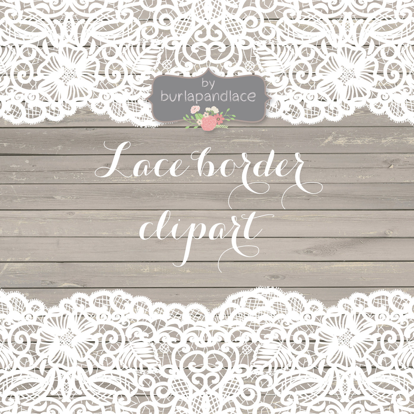 White lace border clipart 7 » Clipart Station.