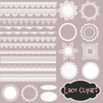 Lace Doily Clip Art Lace Frame Lace Border Element White Lace Clip Art.