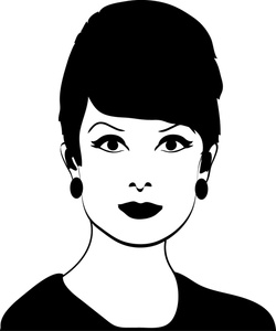 Lady Clipart Black And White.