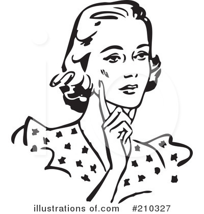 Clipart lady black and white.