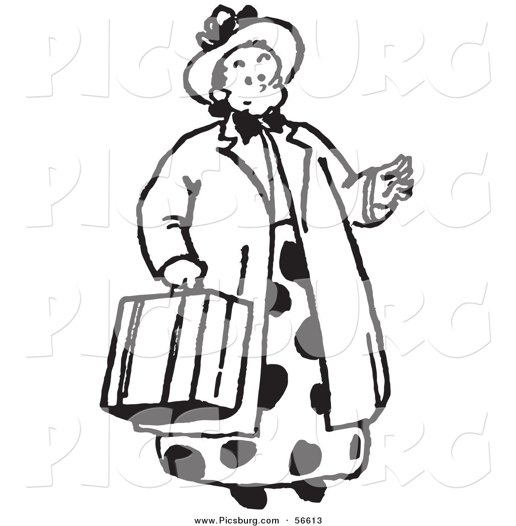 Woman Clip Art Black And White.