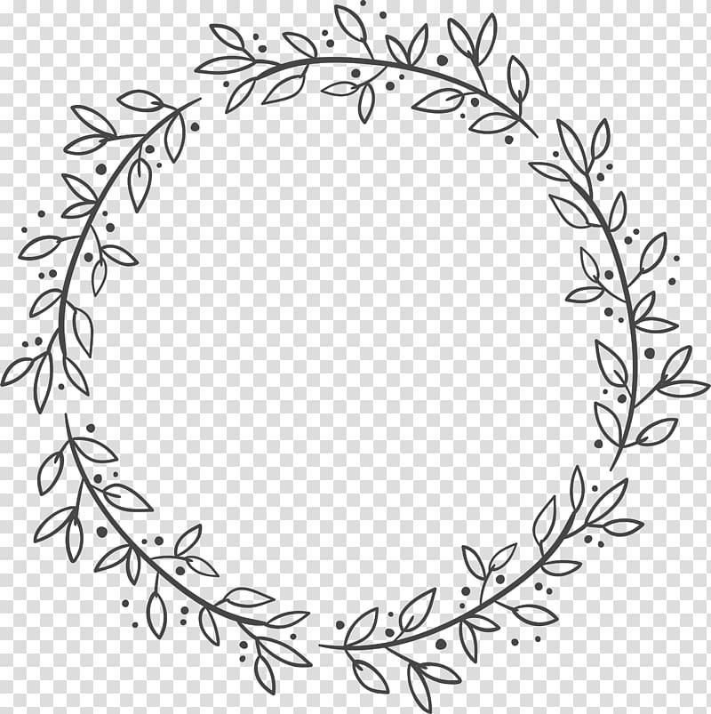 Euclidean Leaf Wreath Flower, Leaf decoration box, gray.