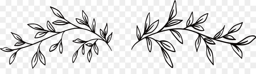 Png Black And White Leaves & Free Black And White Leaves.png.