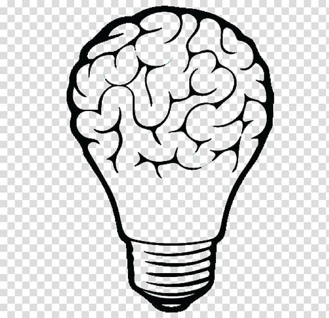 Brain Incandescent light bulb , Brain transparent background.