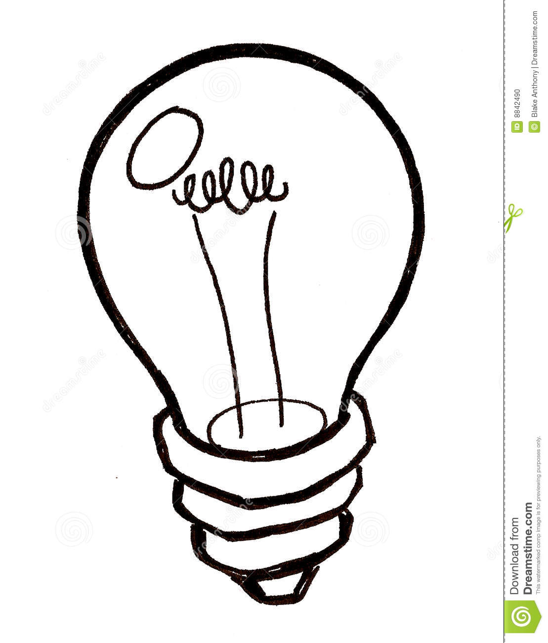 Idea Light Bulb Clip Art Black And White.
