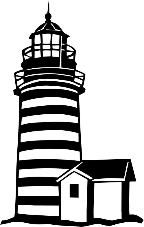 Free Black And White Lighthouse Clipart, Download Free Clip.