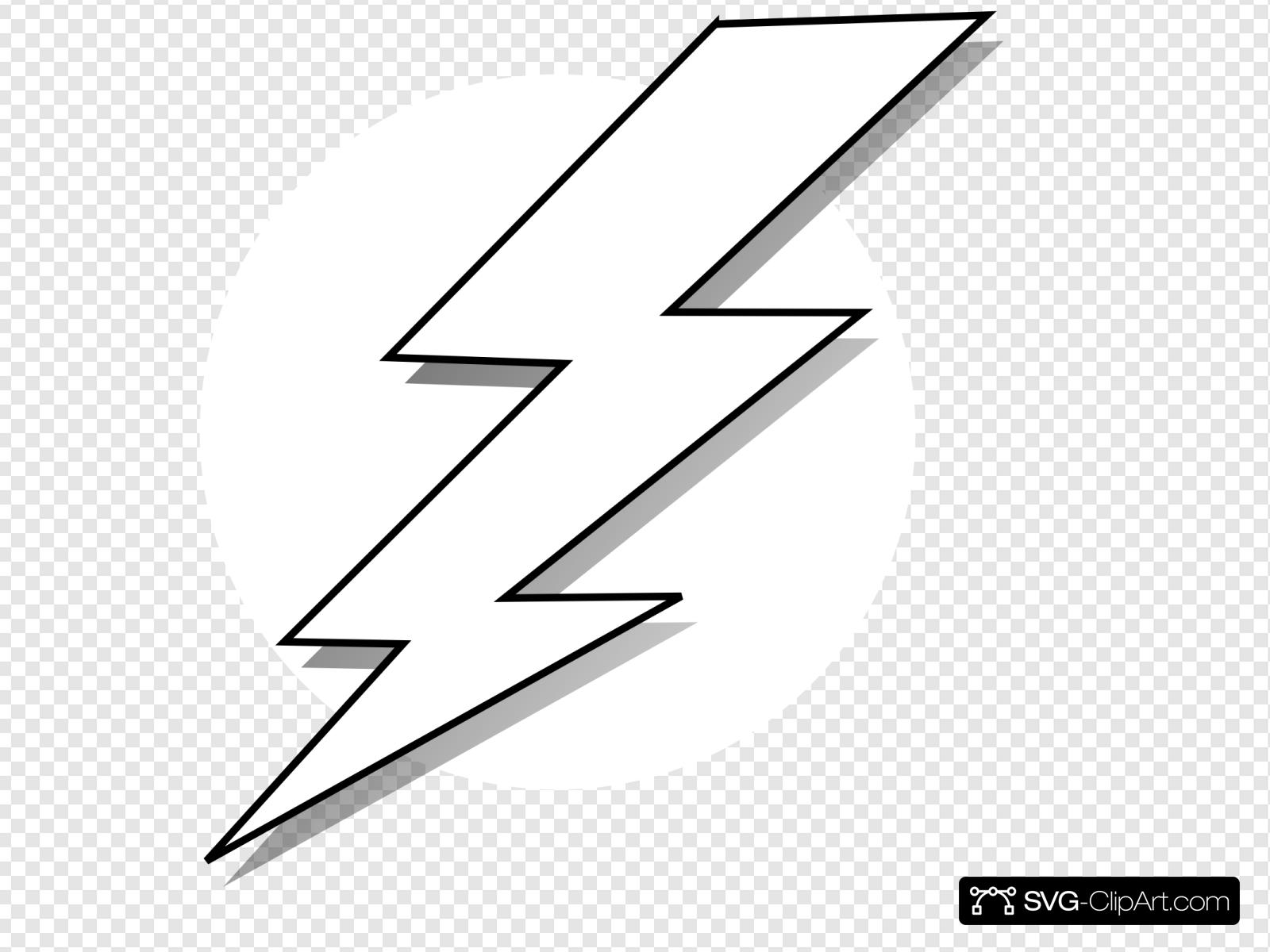 Black And White Lightning Bolt Clip art, Icon and SVG.