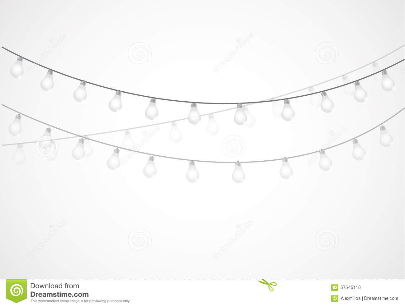 Free String Lights Clipart No Background.