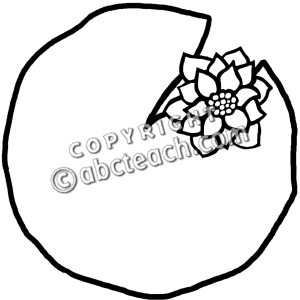 396 Lily Pad free clipart.