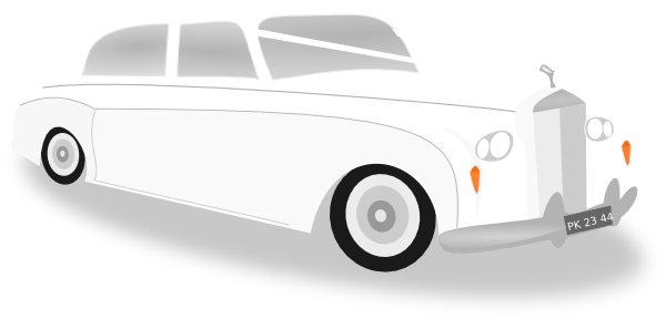 Wedding Limo Car Clip Art.