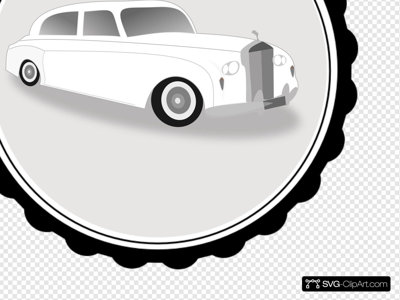 White Limo Clip art, Icon and SVG.