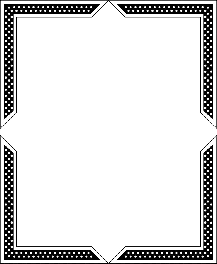 Paper Black and white frame Line Angle, Border Frame PNG.