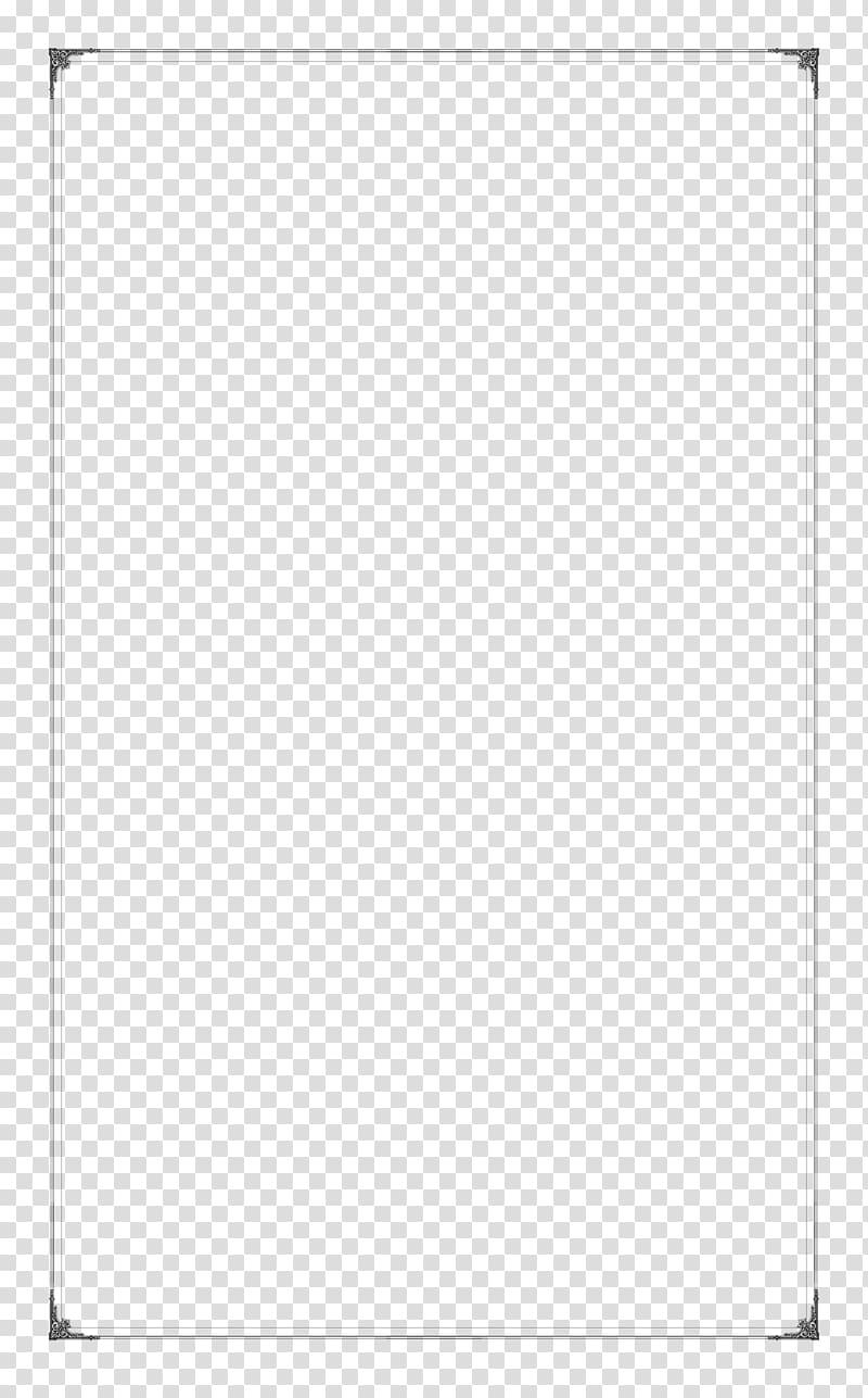 Black simple line border texture transparent background PNG.
