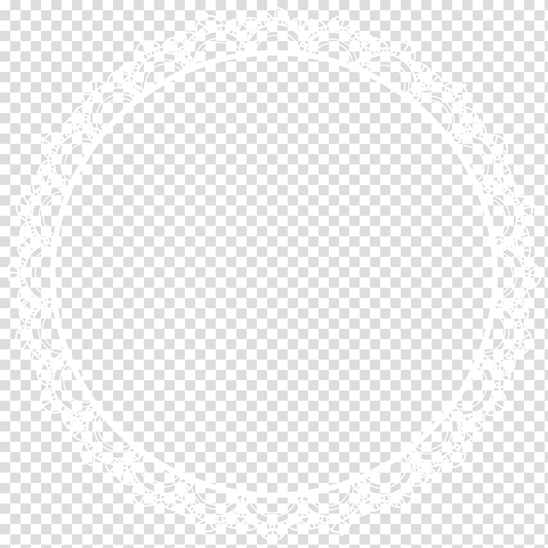 Round white frame vectoe, Line Symmetry Point Angle Pattern, Round.