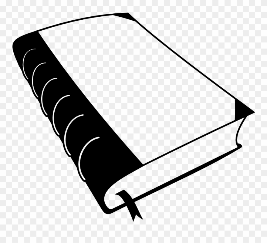 Open Book Clipart Black And White.