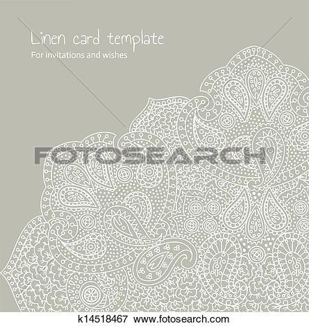 Clip Art of White linen brocade k14518467.