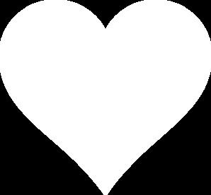 White Line Heart Clip Art at Clker.com.