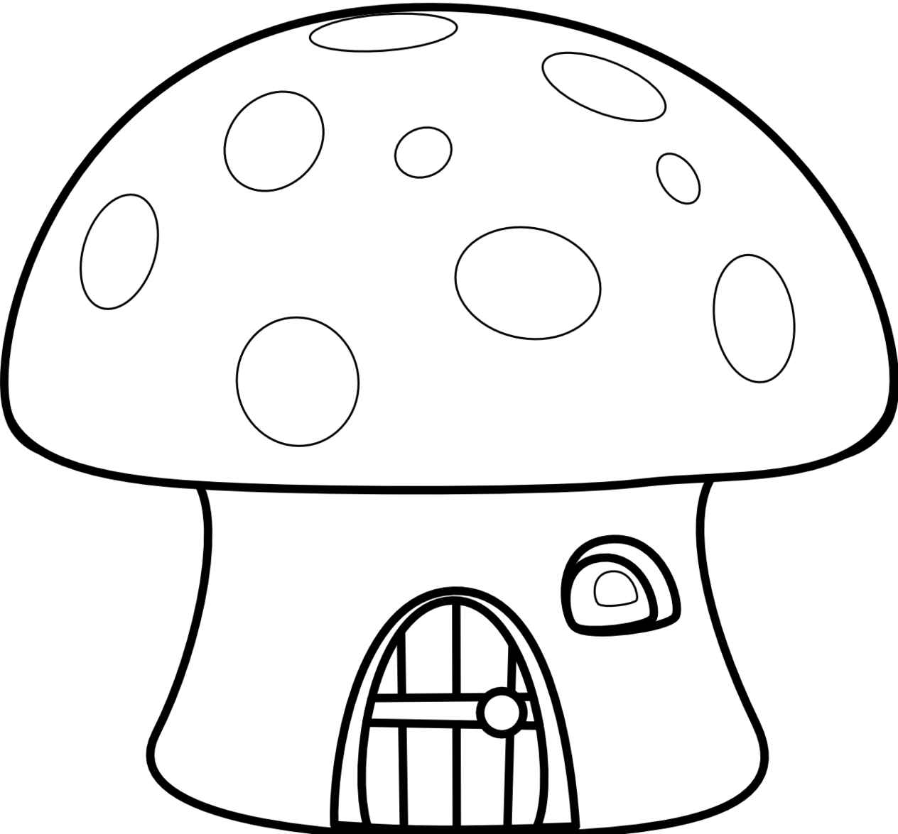 Similiar Black And White Mushroom Clip Art Keywords.