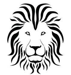 Black Ad White Lion Head Clipart.