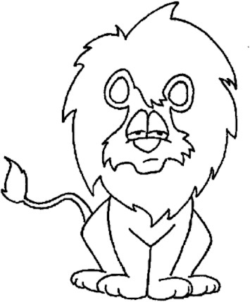 Free Black and White Lion Clipart, 1 page of Public Domain Clip Art.