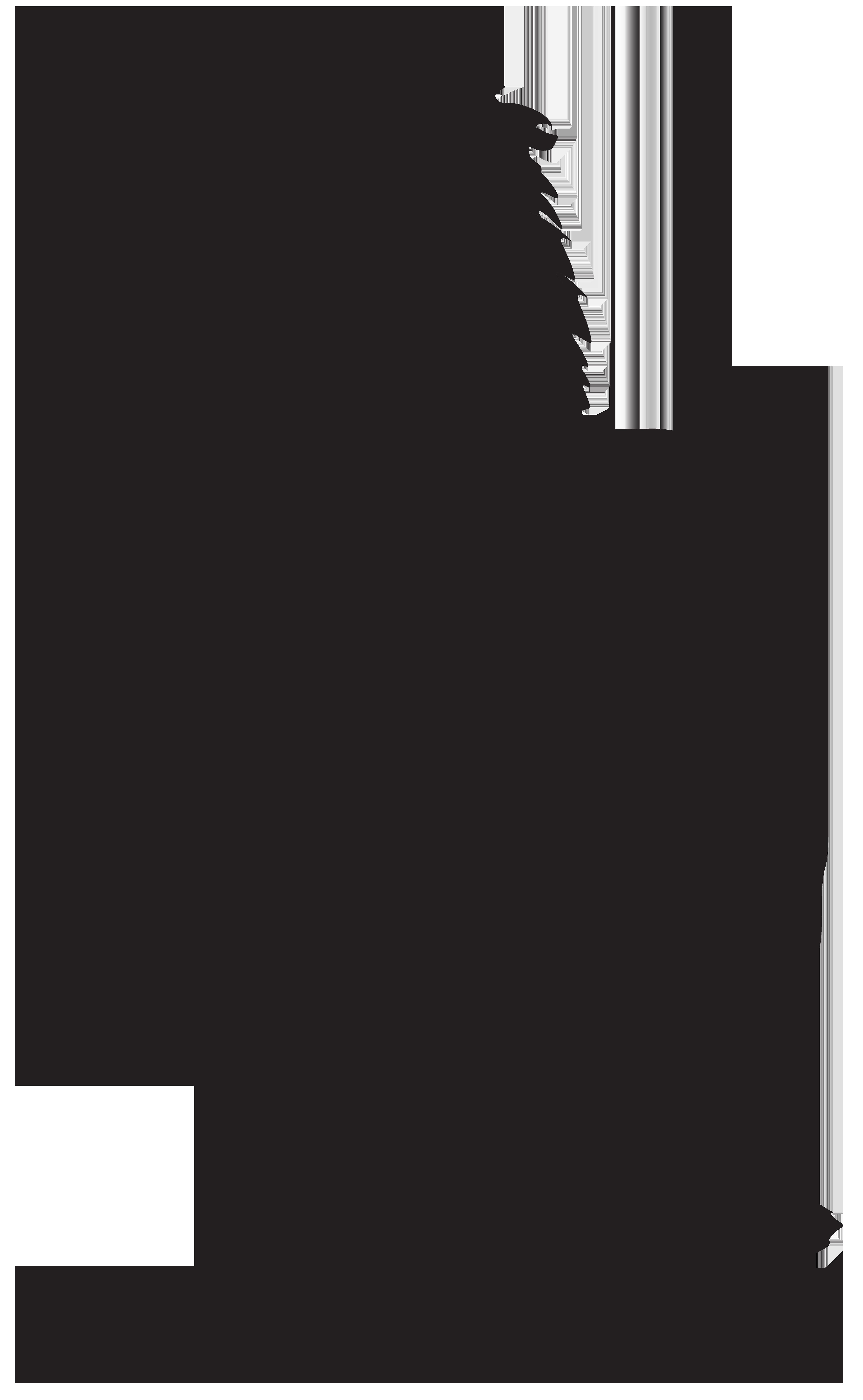 White lion Silhouette Clip art.