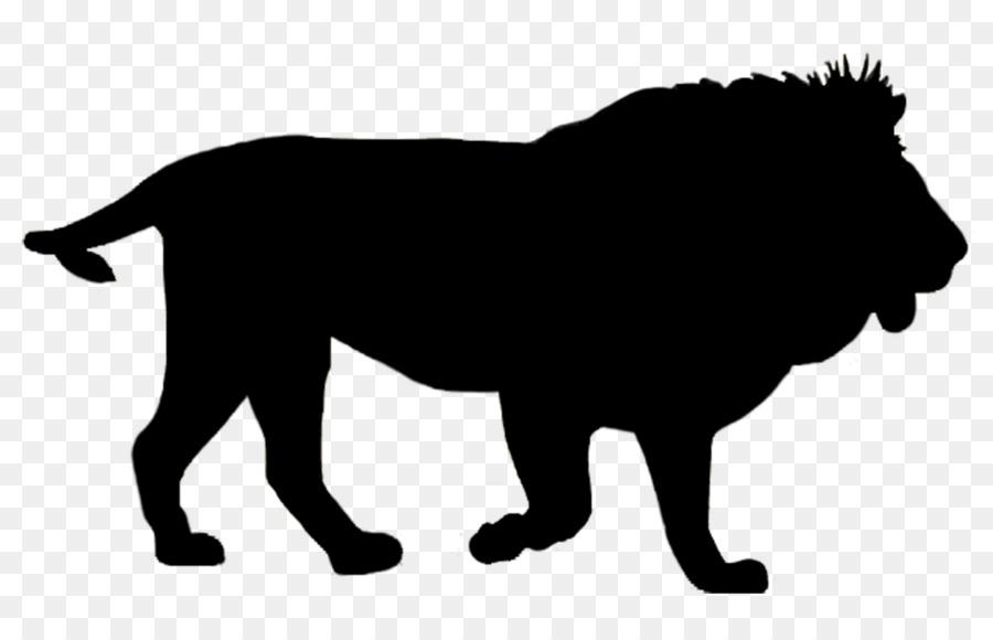 Transparent Lion Silhouette.
