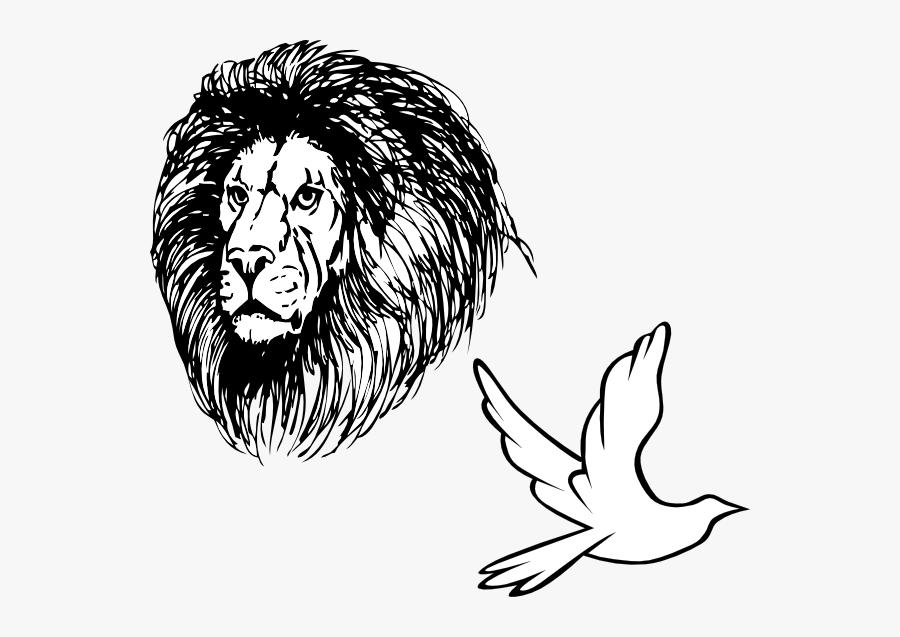 Lion Mane Clip Art Black And White , Free Transparent.