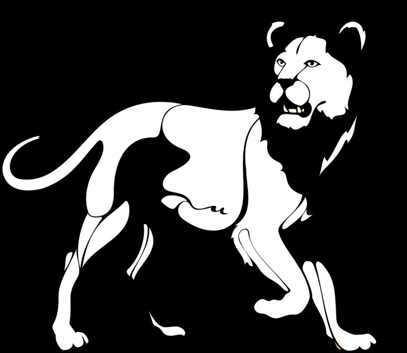 Lion Black and white Roar Clip art.