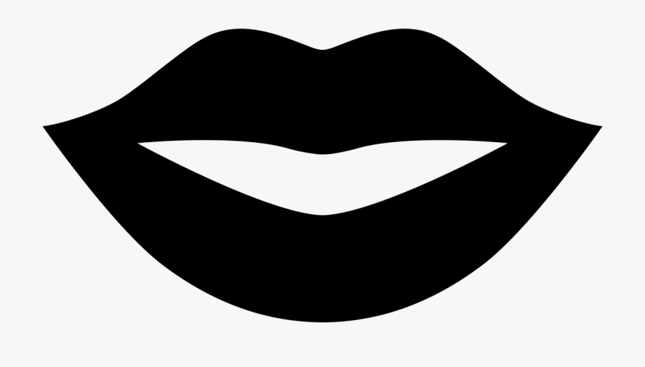 Lips Clipart Black And White.