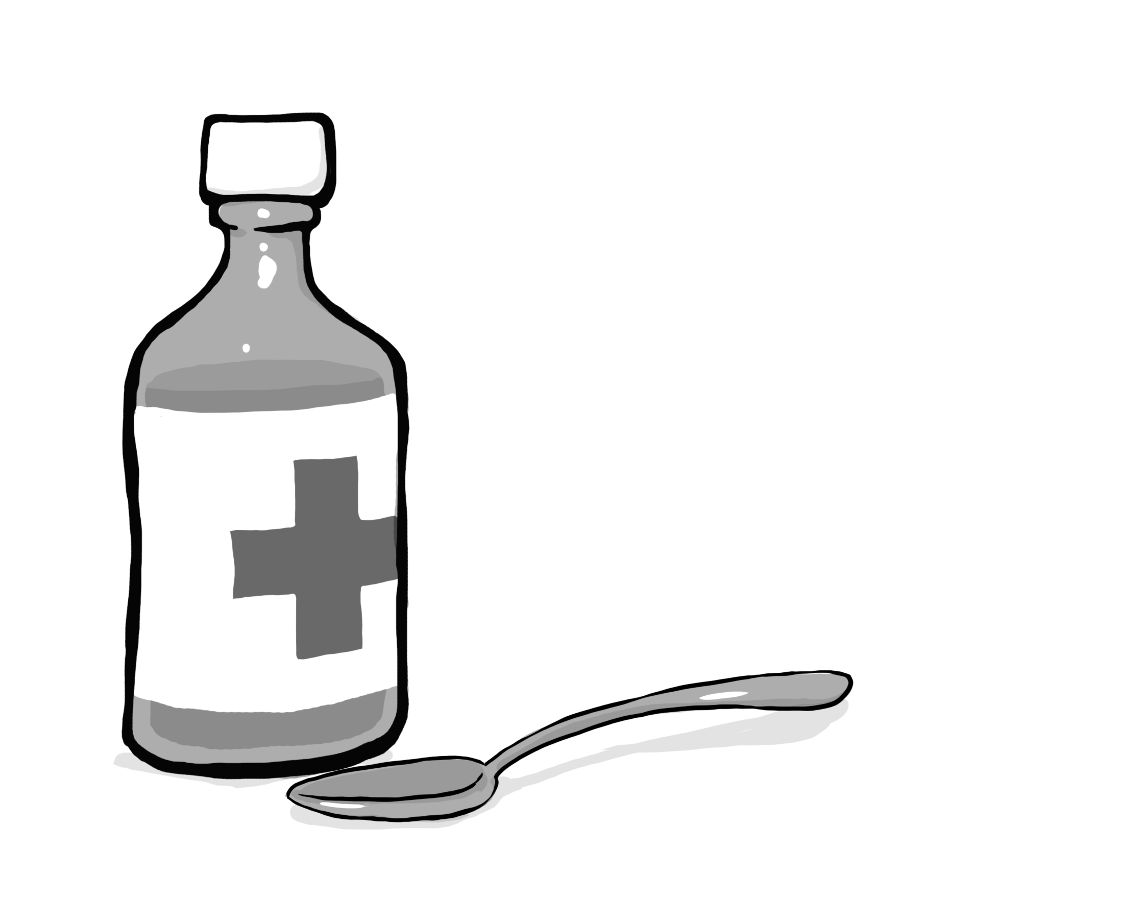 When to Call Doctor: Full bottle of Liquid Medication.