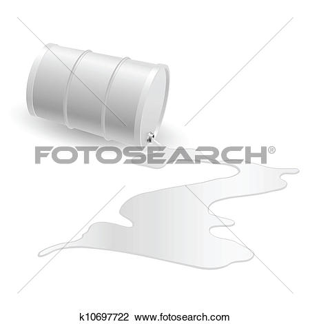 Clipart of Barrel with white liquid k10697722.