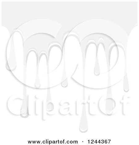 Clipart of a White Dripping Liquid.
