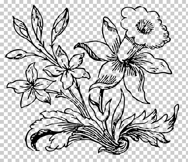 Flower Drawing , little flower PNG clipart.