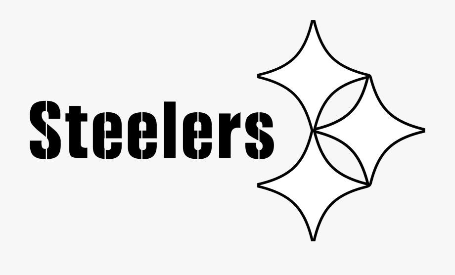 Steelers Logo Black And White.