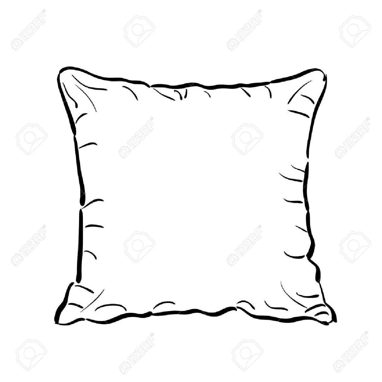 White Pillow Clipart.